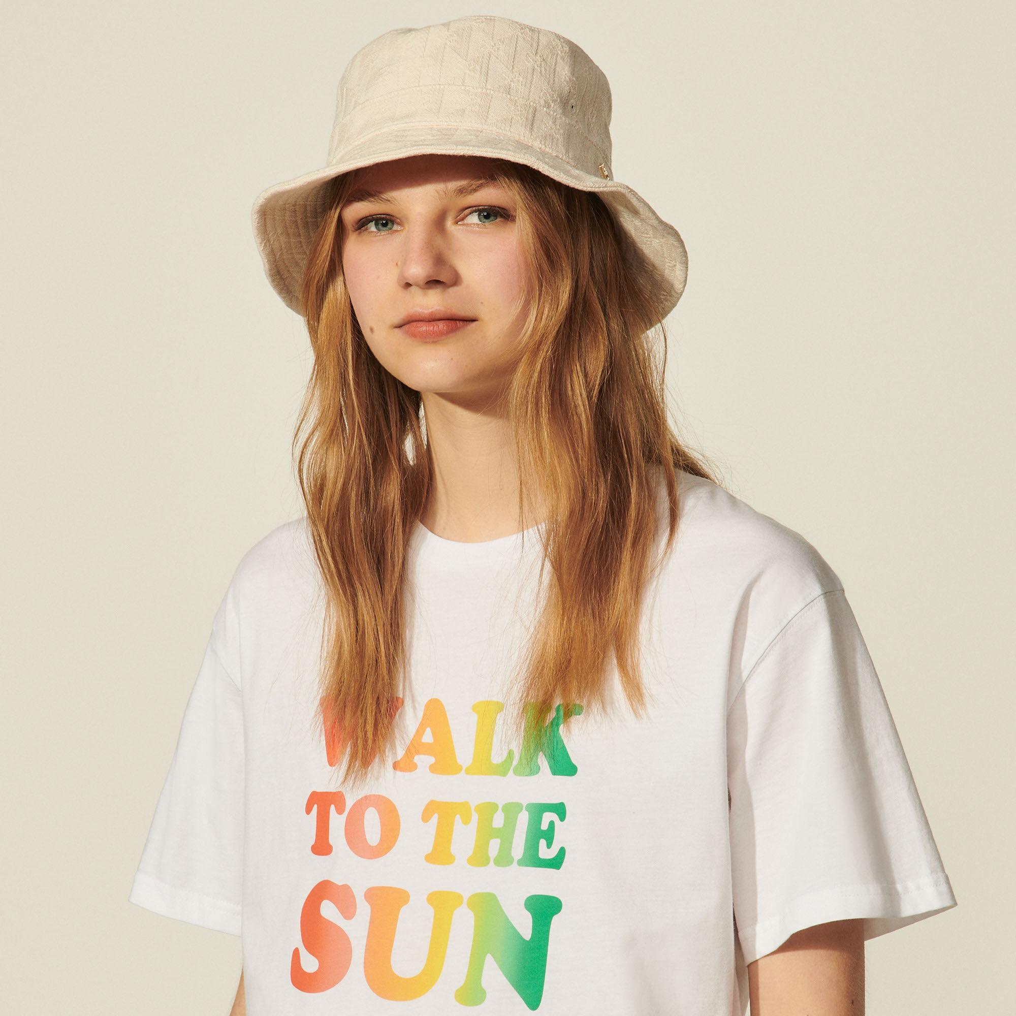 Double S jacquard fabric bucket hat - Sandro - Modalova