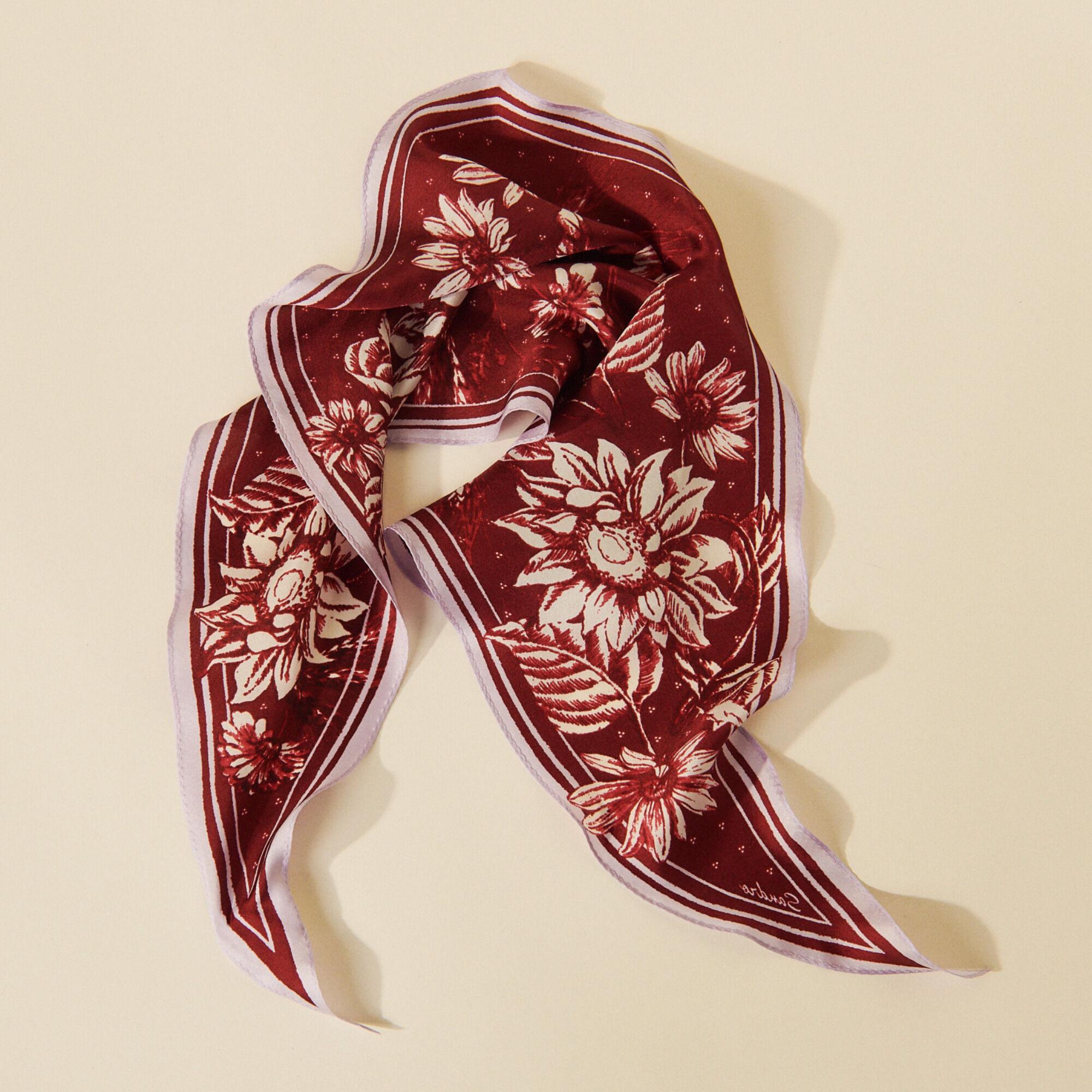 Printed silk scarf - Sandro - Modalova
