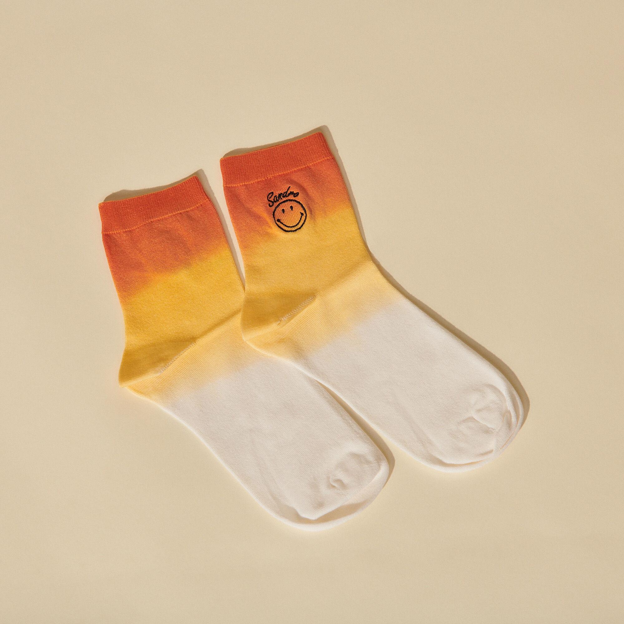 Smiley® Tie-dye socks - Sandro - Modalova
