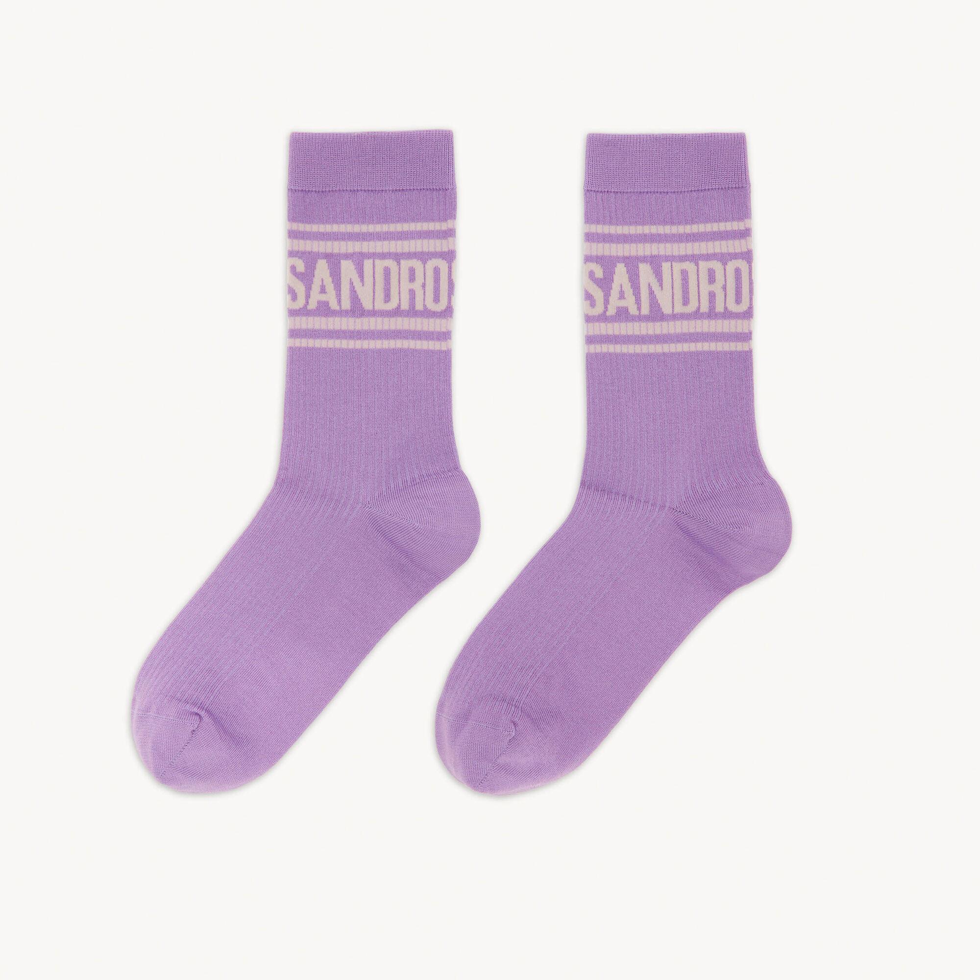 Socks with Sandro logo and stripes - Sandro - Modalova