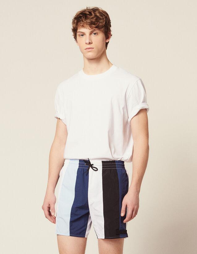 Multi-Coloured Striped Swim Shorts : Sélection Last Chance color Blue