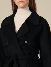 Double-Sided Wool Trench Coat : LastChance-ES-F30 color Black