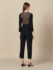Wrapover jumpsuit : LastChance-ES-F50 color Black