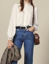 Floaty crêpe blouse : Copy of VP-FR-FSelection-Tops&Chemises color Ecru