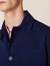 Faded Cotton Workwear Jacket : Sélection Last Chance color Blue
