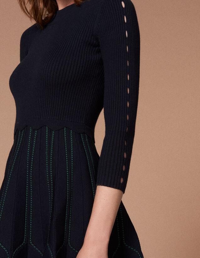 Knit Dress : Dresses color Deep Navy