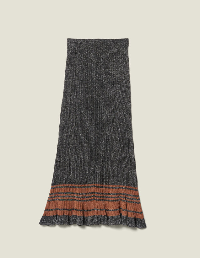 Lurex Knit Midi Skirt : LastChance-ES-F50 color Silver