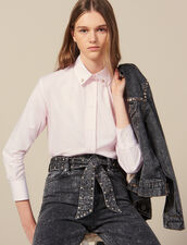 Shirt With Jewelled Buttons At Collar : FBlackFriday-FR-FSelection-50 color Pink