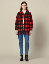 Oversized shirt jacket : Blazers & Jackets color Red/Black