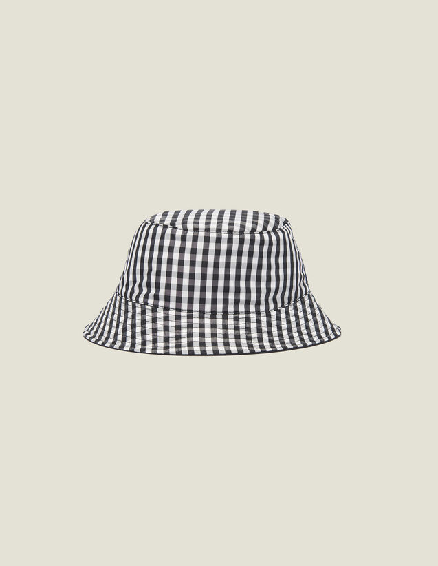 Reversible Cotton Hat : Summer suitcase color Black/White
