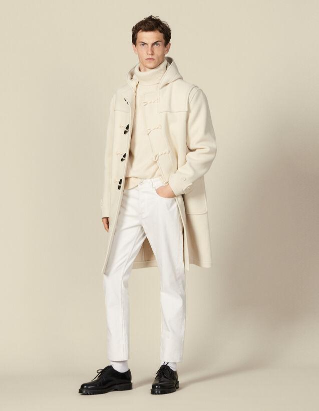 Wool duffle coat : Trench coats & Coats color Ecru