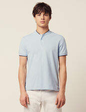 Polo Shirt With Collar Detail : Sélection Last Chance color Sky Blue