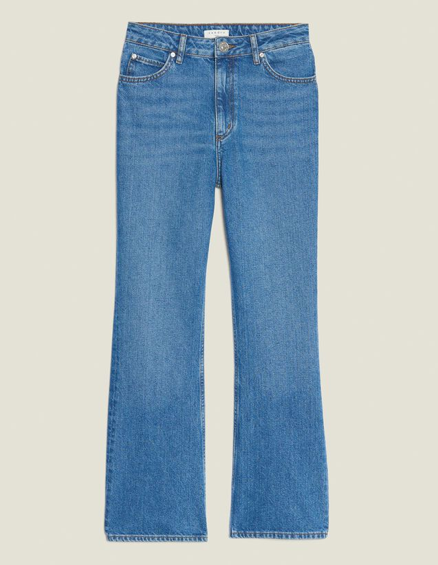 Flared Jeans : Jeans color Blue Vintage - Denim