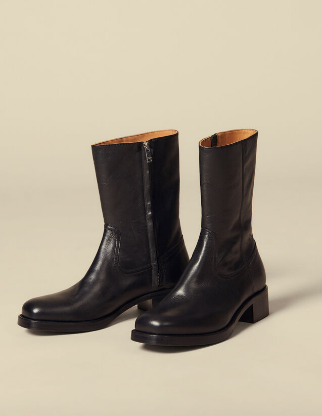 Cowboy boots : Shoes color Black