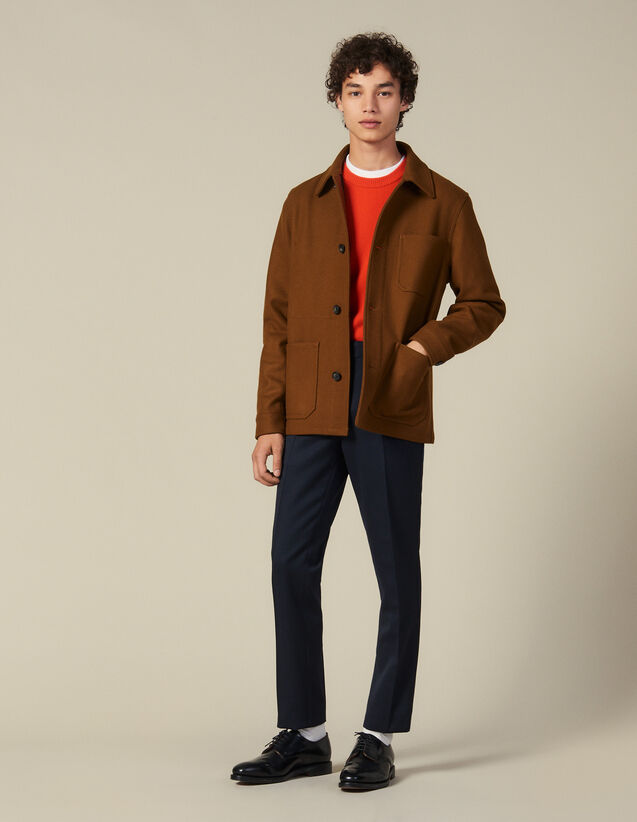 Woolcloth jacket : Blazers & Jackets color Camel