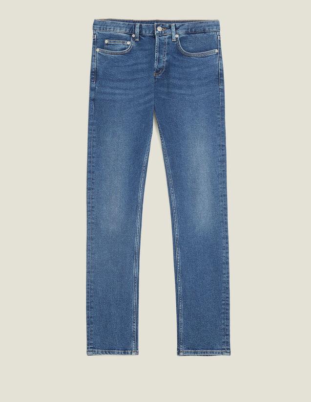 Washed Jeans - Narrow Cut : Jeans color Blue Vintage - Denim
