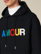 Hoodie With Amour Patch : Sweatshirts color Black