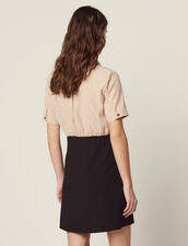 Trompe L' Œil Dress With Blouse : null color Black