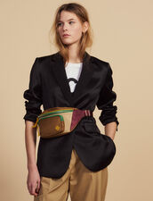 Matching Satin Tailored Jacket : null color Black