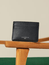 Grained Leather Card Holder : Winter Collection color Black