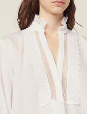 Blouse With Fine Lurex Stripes : -40% color Ecru