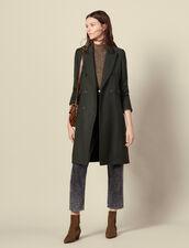 Long wool coat : LastChance-ES-F30 color Olive Green