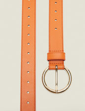 Leather Belt : Summer Collection color Orange