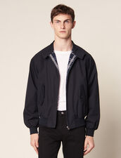 Oversized Harrington-Style Jacket : SOLDES-CH-HSelection-PAP&ACCESS-2DEM color Navy Blue