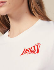 Cotton T-Shirt With Lettering : All Selection color white