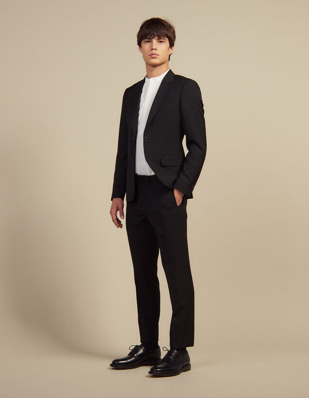 Wool Suit Trousers : Sélection Last Chance color Black