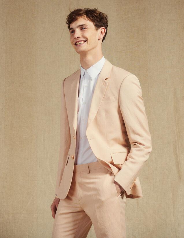 Linen Blend Suit Jacket : Sélection Last Chance color Light pink