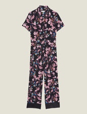 Floral Print Jumpsuit : Jumpsuits color Black
