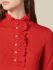 Sweater With Tulle At The Collar : FBlackFriday-FR-FSelection-30 color Red