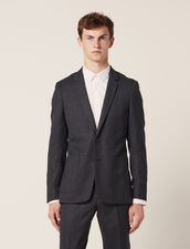 Suit jacket : Suits & Tuxedos color Mocked Grey