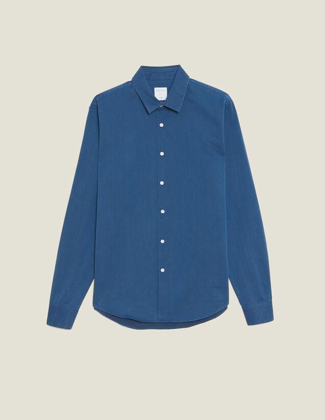 Faded Chambray Casual Shirt : Sélection Last Chance color Blue Vintage - Denim