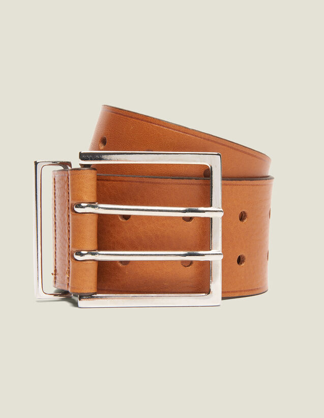 Wide Leather Belt by Sandro Paris
