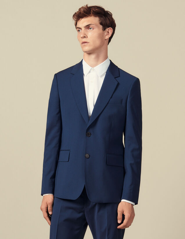 Classic super 110 suit jacket : Winter Collection color Petrol