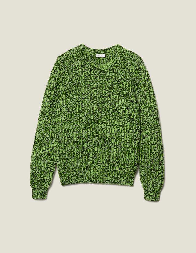 Mottled Sweater : Sweaters & Cardigans color Vert/Noir
