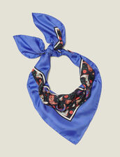 Silk mini cowboy boot print scarf : Copy of VP-FR-FSelection-AutresAccessoires color Blue