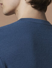 Fine Fancy Stitch Sweater : Pullovers & Cardigans color Steel blue