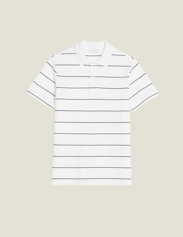 Stripe Polo Shirt : Sélection Last Chance color white