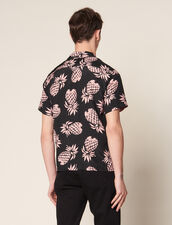 Hawaiian Printed Shirt : SOLDES-CH-HSelection-PAP&ACCESS-2DEM color Black