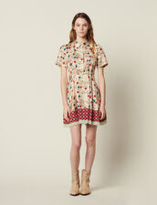 Printed Shirt Dress, Opening At The Back : Dresses color Multi-Color