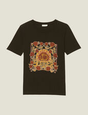 T-Shirt With Block Motif : null color Black
