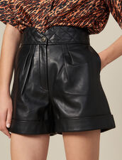 Leather Shorts With Quilted Waist : FBlackFriday-FR-FSelection-30 color Black