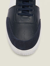 Leather Trainers : Summer Collection color Navy Blue