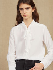 Shirt With Ruff Collar : Tops & Shirts color white
