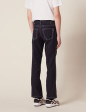 Trousers With Contrasting Topstitching : Sélection Last Chance color Navy Blue