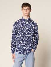 Flower Shirt : Soak up the sun color Navy Blue