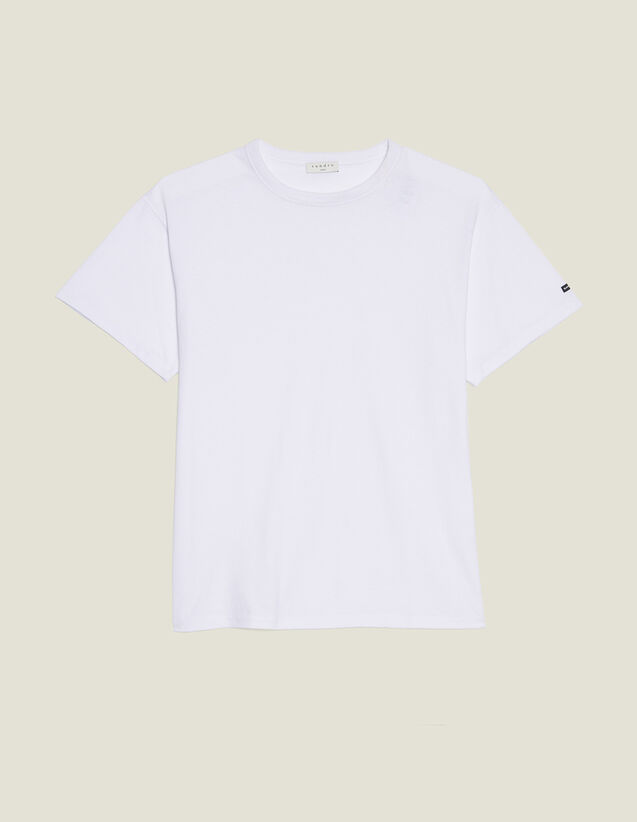 Cotton Oversized T-Shirt : T-shirts & Polo shirts color white